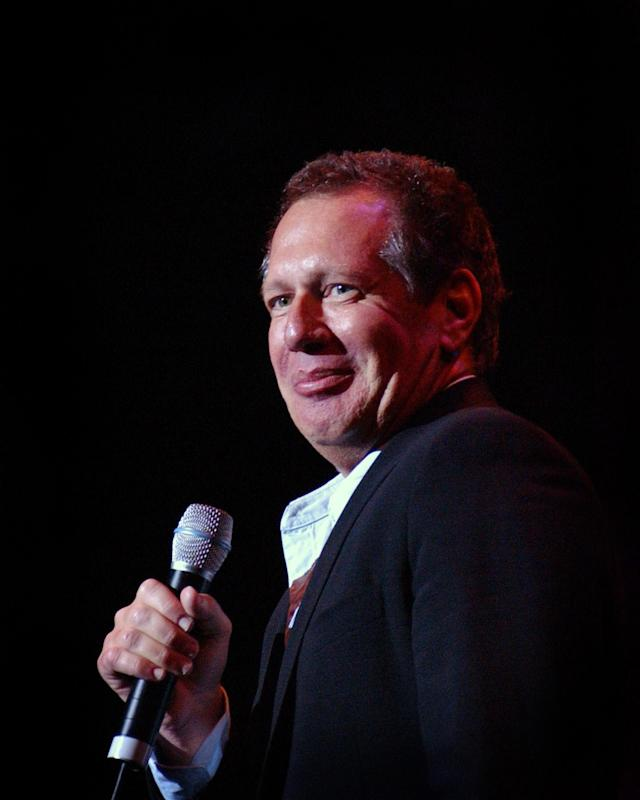 <p>Garry Shandling, the comedian who created and starred in both the Garry Shandling Show and The Larry Sanders show, passed away at age 66 on March 24. — (Pictured) Garry Shandling during A Night of Comedy 3 Benefiting The Children Affected by AIDS Foundation at The Wilshire Theatre in Beverly Hills, California in 2001. (Michael Schwartz/WireImage) </p>