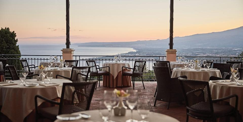 The Otto Geleng restaurant at Grand Hotel Timeo in Taormina.