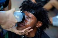 Demonstrators rally near the White House against the death in Minneapolis police custody of George Floyd in Washington, D.C.