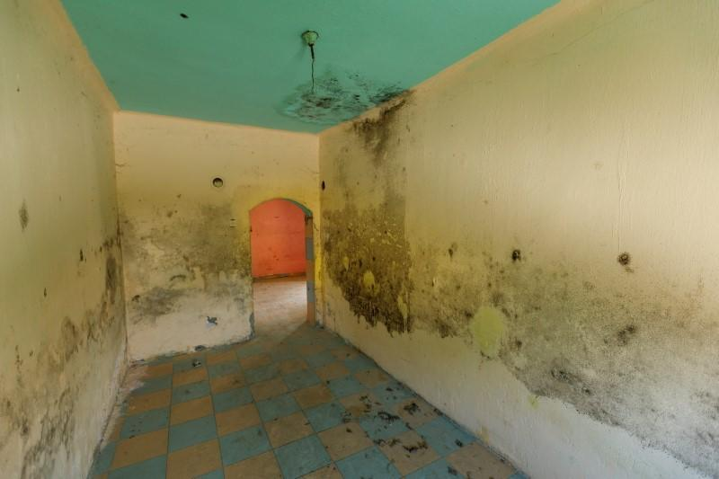 An interior of a house for sale for 1 HRK is seen in village Zablatje