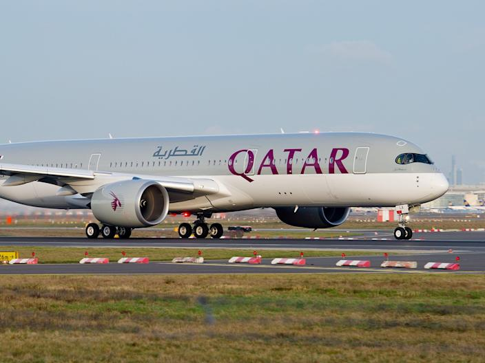 A Qatar Airways Airbus A350-900 XWB.