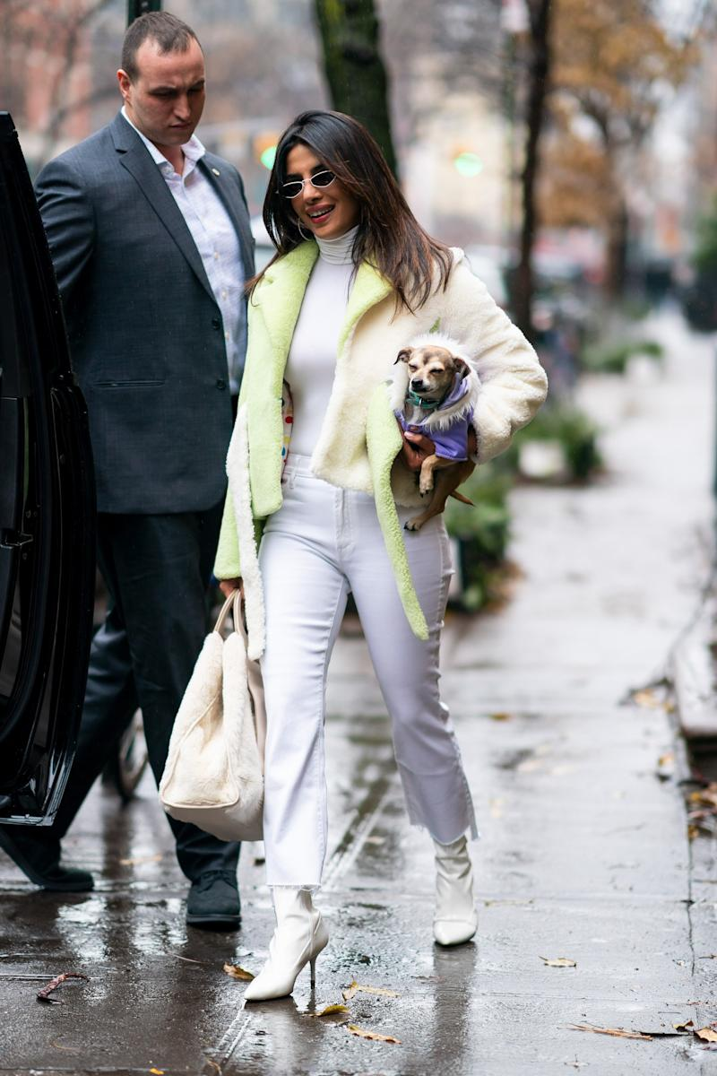 NEW YORK, NEW YORK - DECEMBER 16: Priyanka Chopra is seen in the West Village on December 16, 2018 in New York City. (Photo by Gotham/GC Images)