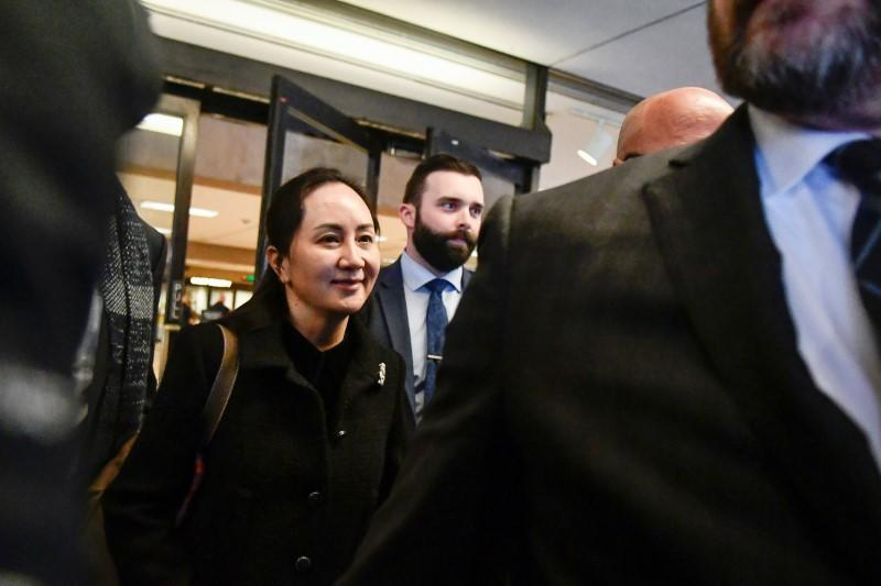Huawei Chief Financial Officer Meng Wanzhou leaves B.C. Supreme Court on a break of her extradition hearing in Vancouver