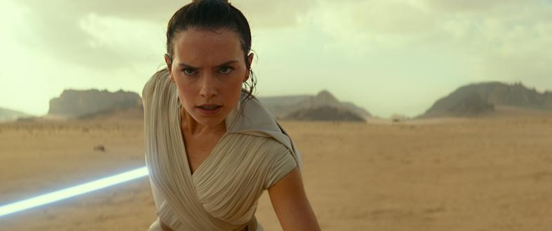 Rey (Daisy Ridley) in STAR WARS: EPISODE IX: THE RISE OF SKYWALKER. (Credit: Lucasfilm/Disney)