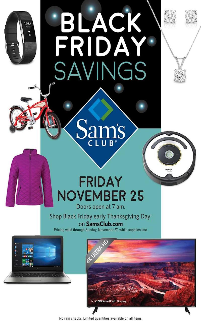 What Time Does Sams Club Open On Sunday >> Sam S Club Full Black Friday 2016 Ad Leaked Here Are The