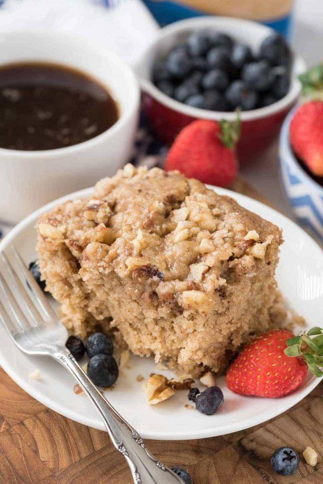 """<p>Your mornings will get so much sweeter—and easier—with a slice of moist coffee cake.</p><p><strong>Get the recipe at <a href=""""https://www.crazyforcrust.com/slow-cooker-coffee-cake-recipe/"""" rel=""""nofollow noopener"""" target=""""_blank"""" data-ylk=""""slk:Crazy for Crust"""" class=""""link rapid-noclick-resp"""">Crazy for Crust</a>.</strong></p>"""