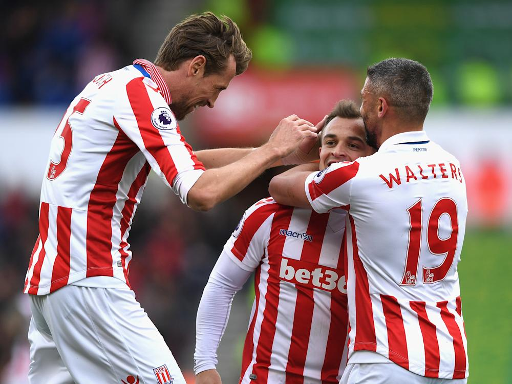Xherdan Shaqiri scored a goal of the season contender to seal three points for the Potters: Getty
