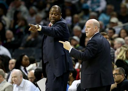 Assistant Patrick Ewing with Charlotte head coach Steve Clifford (Getty Images)