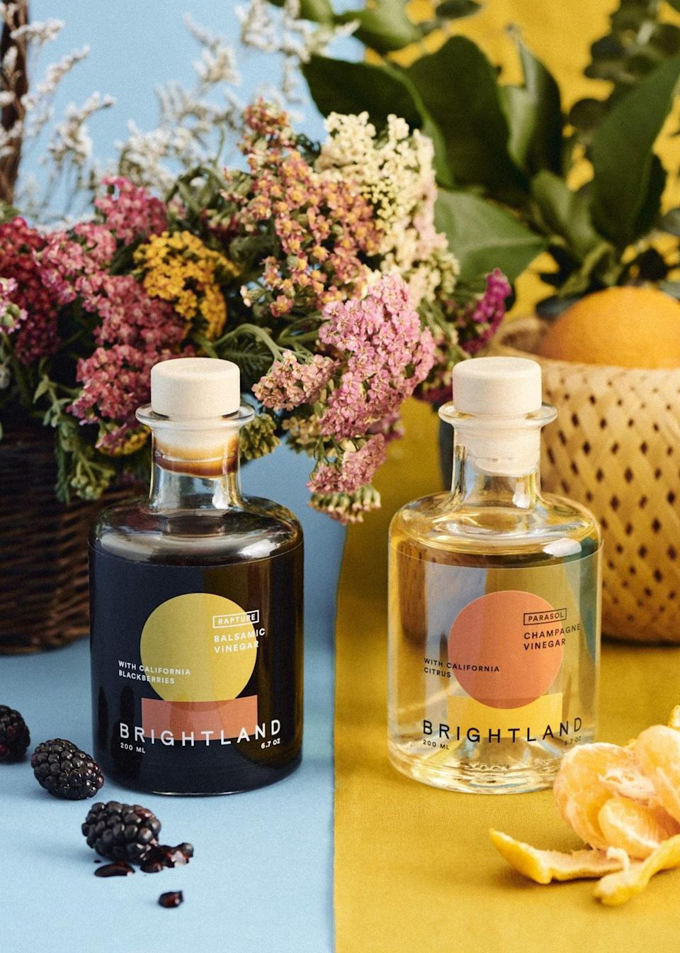 <p>We love the brand's popular olive oil set, and now we'll be needing to try the <span>Brightland The Pair Set</span> ($44). The vinegar duo pair is made in California, and each bottle has its own unique flavor and tasting notes.</p>