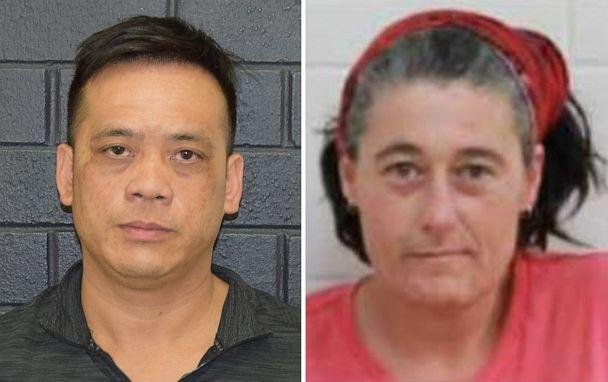 PHOTO: An undated combined image obtained December 2, 2019 shows Phu Tran (L) and Claire Hockridge who went missing in a remote area south of Alice Springs. Australian police said on Tuesday they had found Tran. (Stringer/Reuters)