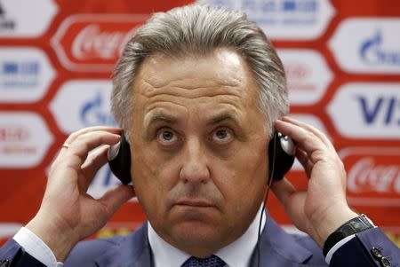 FILE PHOTO: Russian Sports Minister Mutko attends a news conference in Moscow