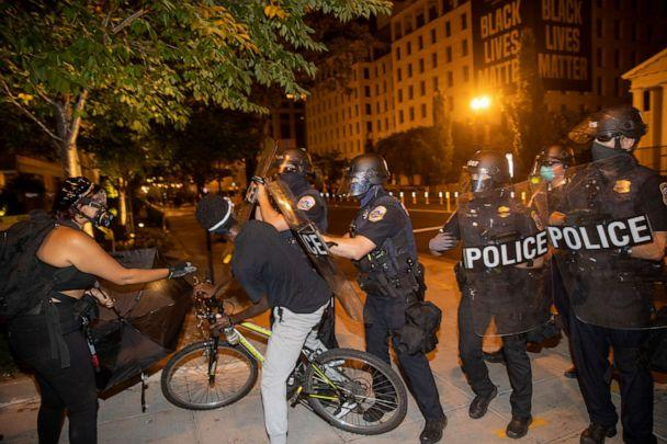 PHOTO: Protesters and Washington DC Police clash at Black Lives Matter Plaza, August 30, 2020 in Washington, DC. (Tasos Katopodis/Getty Images, FILE)