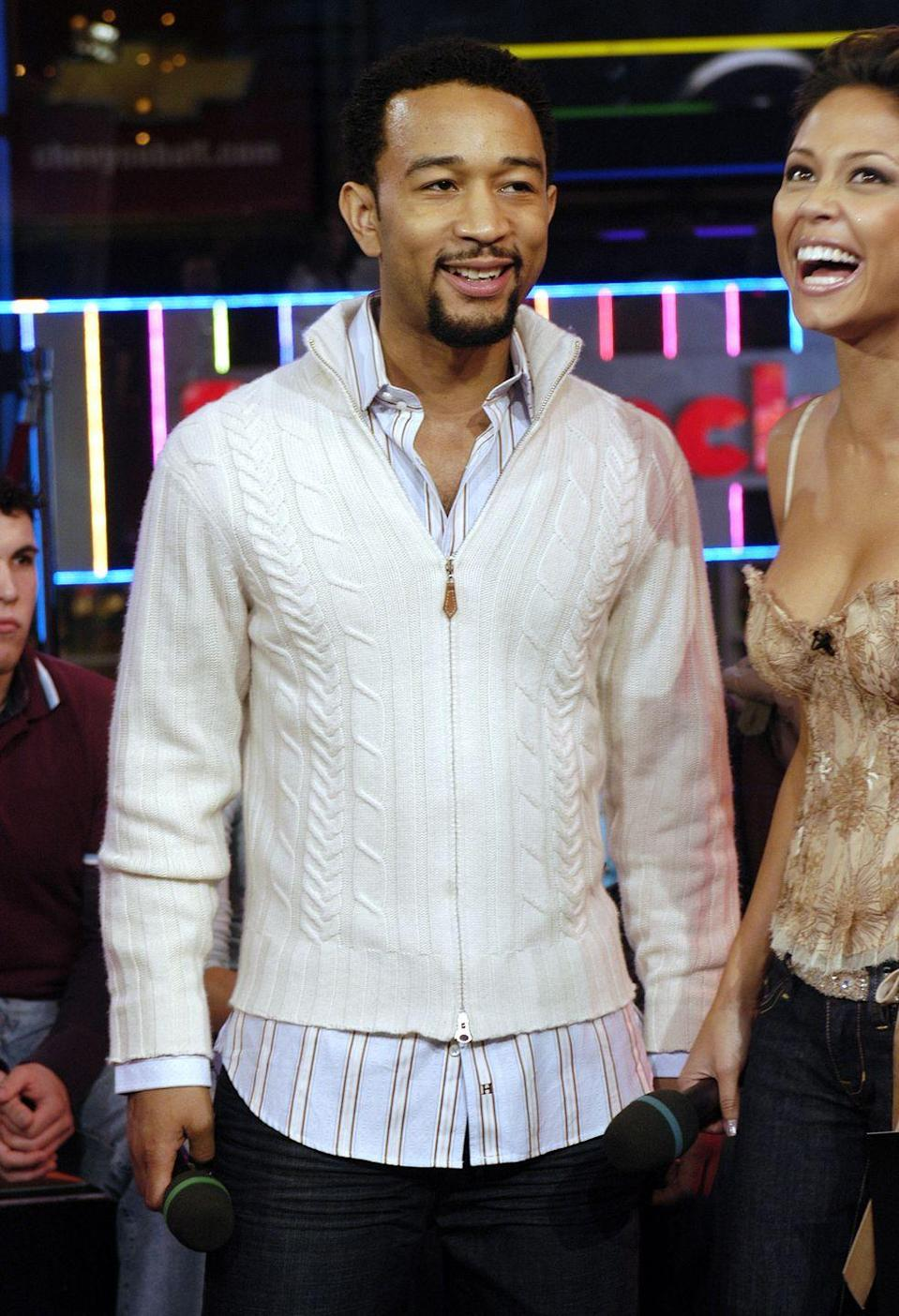 <p>IDK 'bout you but I think John Legend should go back to wearing cable knit cardigans with long button-down shirts underneath, because it's an absolute vibe.</p>