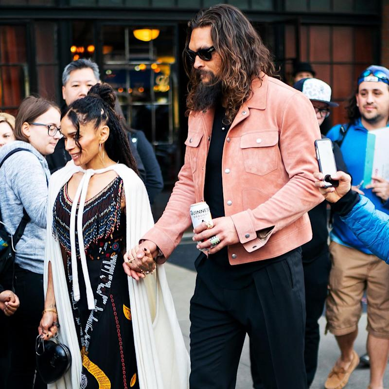 Jason Momoa Guinness: Jason Momoa, His Scrunchie, And His Guinness Are Having