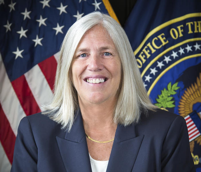 This image provided by the Office of the Director of National Intelligence shows deputy national intelligence director Sue Gordon. President Donald Trump says Gordon has announced she is leaving her position. (Office of the Director of National Intelligence via AP)