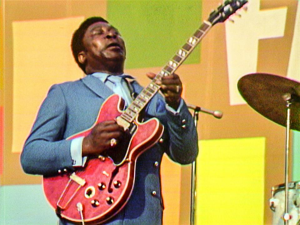 """B.B. King performing at the 1969 Harlem Cultural Festival, also known as the """"Black Woodstock."""""""