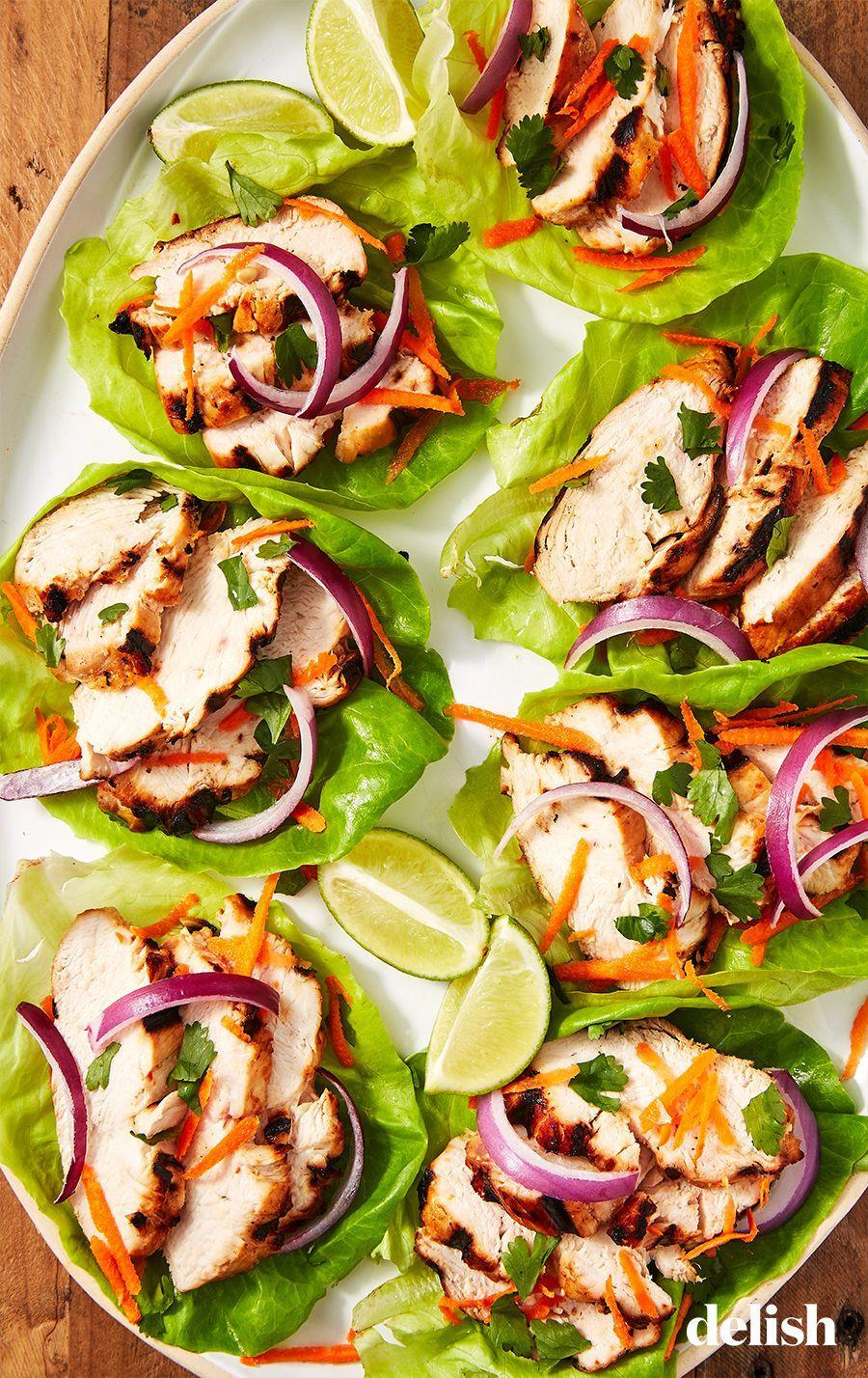 """<p>You could go out to a fancy restaurant...or you could make these at home.</p><p>Get the recipe from <a href=""""https://www.delish.com/cooking/recipe-ideas/recipes/a57645/thai-chicken-lettuce-cups-recipe/"""" rel=""""nofollow noopener"""" target=""""_blank"""" data-ylk=""""slk:Delish"""" class=""""link rapid-noclick-resp"""">Delish</a>.</p>"""
