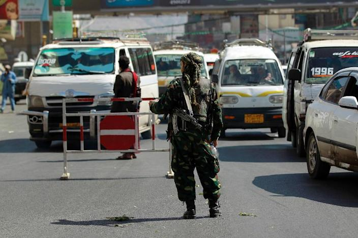 Huthi rebels seized control of the Yemen capital Sanaa in 2014 (AFP Photo/Mohammed Huwais)