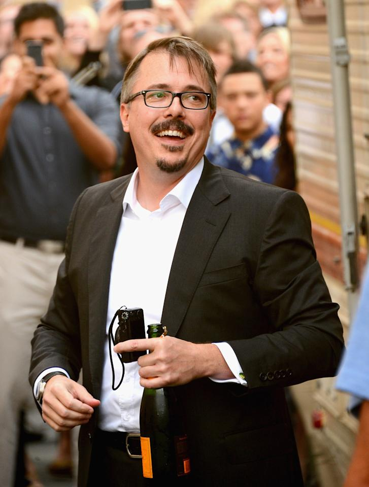 "CULVER CITY, CA - JULY 24: Creator/executive producer Vince Gilligan arrives as AMC Celebrates the final episodes of ""Breaking Bad"" at Sony Pictures Studios on July 24, 2013 in Culver City, California. (Photo by Mark Davis/Getty Images)"