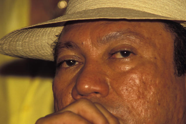 <p>Gen. Manuel Noriega at a social gathering in February 1988. (Greg Smith/Corbis via Getty Images) </p>