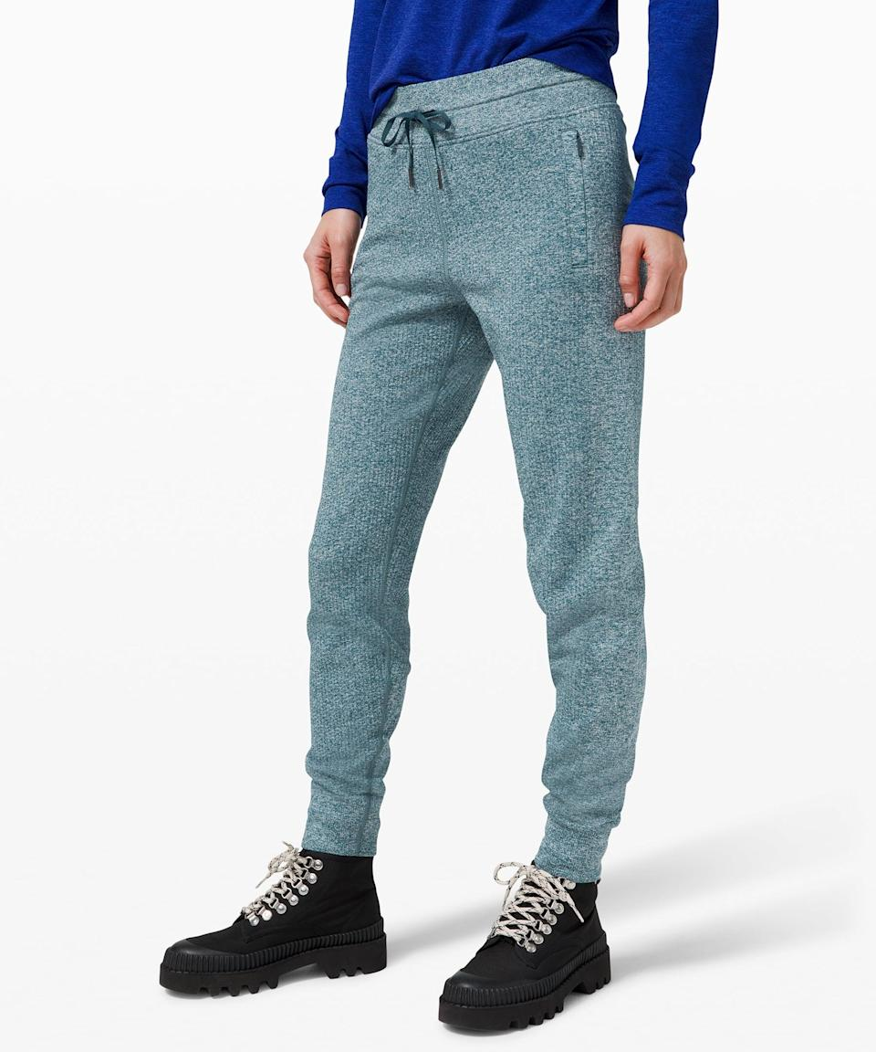 <p>Stay cozy in this <span>Lululemon Engineered Warmth Jogger</span> ($109, originally $138).</p>