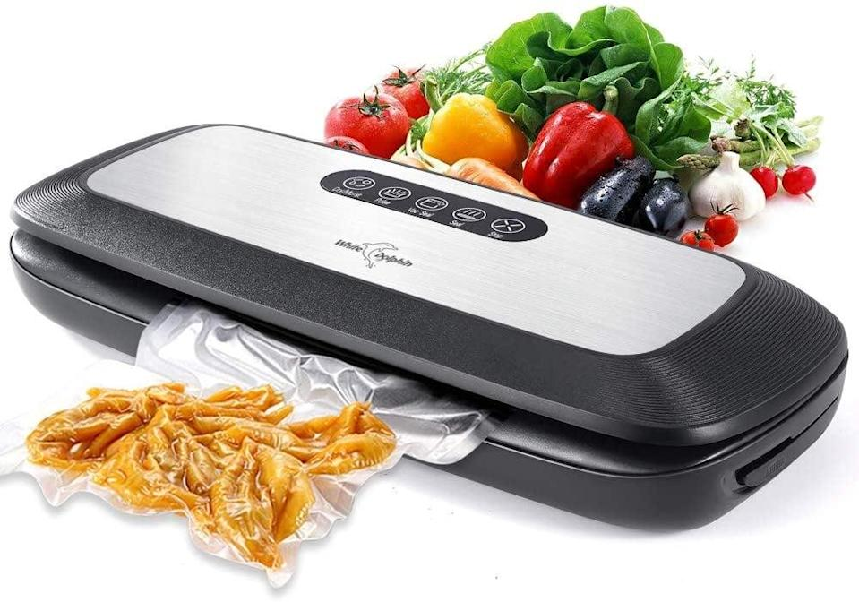 <p>Preserve pre-cut veggies, fruit, and even snacks with this <span>White Dolphin Vacuum Sealing System Machine</span> ($28, originally $45).</p>