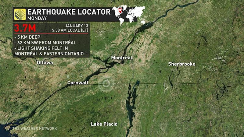 Magnitude 4.0 earthquake strikes Quebec, rumbles felt in eastern Ontario