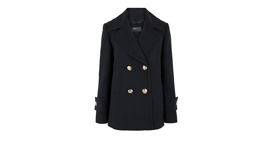 Pea Coat with Wool