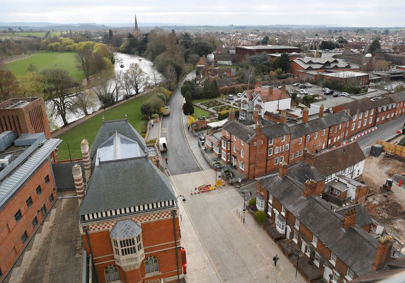 FILE PHOTO: A general view is seen from the tower at the Royal Shakespeare Company in Stratford-upon-Avon