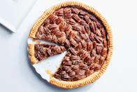 """If you want to make truly great pecan pie, start with a recipe that is really loaded with nuts, has a little verve from orange zest, and isn't overly sweet—exactly like the one here. <a href=""""https://www.epicurious.com/recipes/food/views/old-fashioned-pecan-pie-356072?mbid=synd_yahoo_rss"""" rel=""""nofollow noopener"""" target=""""_blank"""" data-ylk=""""slk:See recipe."""" class=""""link rapid-noclick-resp"""">See recipe.</a>"""