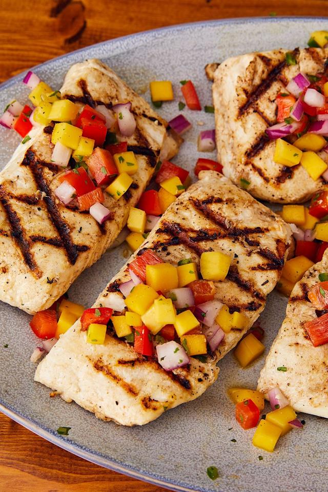 """<p>A little bit of jalapeño gives this salsa a kick.</p><p>Get the recipe from <a href=""""https://www.delish.com/cooking/recipe-ideas/a22178017/easy-grilled-halibut-recipe/"""" target=""""_blank"""">Delish</a>.</p>"""