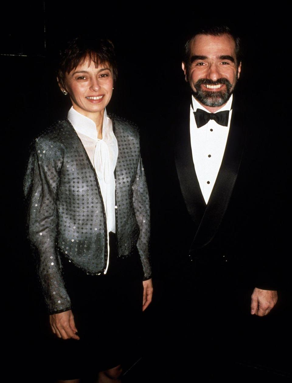 """<p>The <em>Goodfellas</em> and <em>Wolf of Wall Street</em> director Martin Scorcese has been married <a href=""""https://www.distractify.com/p/celebrities-multiple-marriages"""" rel=""""nofollow noopener"""" target=""""_blank"""" data-ylk=""""slk:five times"""" class=""""link rapid-noclick-resp"""">five times</a>. He was previously married to producer Laraine Brennan, teacher Julia Cameron, actress Isabella Rossellini, and producer Barbara de Fina. His current wife is television producer Helen Morris.<br></p>"""