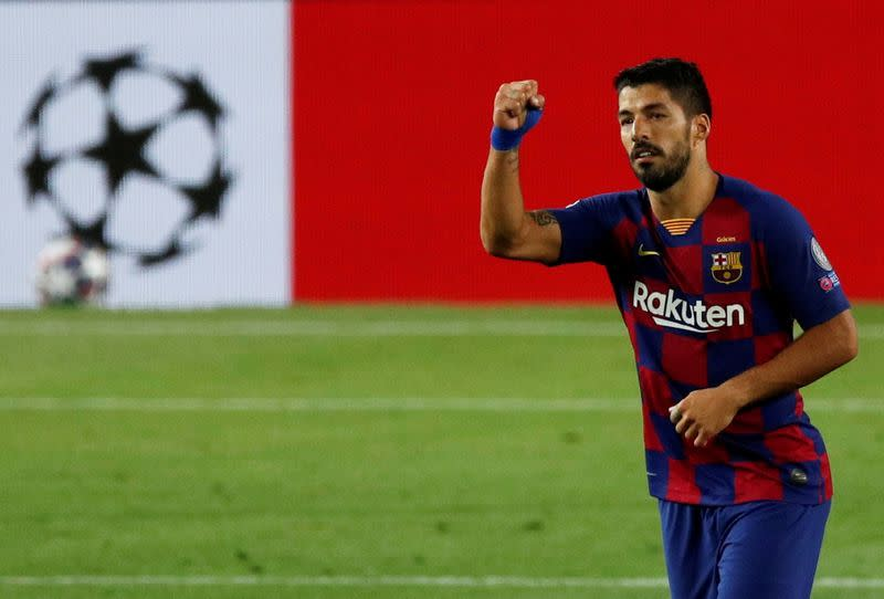 Emotional Suarez proud to have thrived alongside Messi as he heads to Atletico