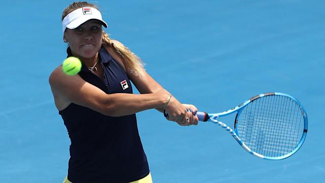 Sofia Kenin continued her good start to 2019, winning a maiden WTA Tour singles title at the Hobart International.