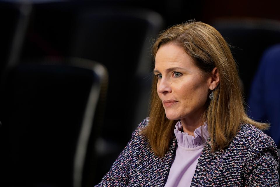 Supreme Court nominee Amy Coney Barrett could well be the fifth vote to provide Donald Trump with an opening to throw out ballots in Pennsylvania and make it harder for state courts to expand voting rights. (Photo: ASSOCIATED PRESS)