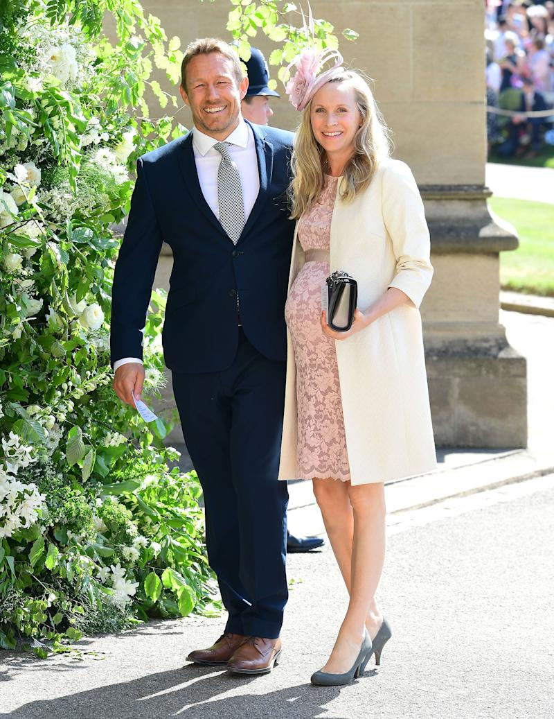 Another rugby star who managed to bag an invite, Jonny is pictured here with his partner, Shelley Jenkins.