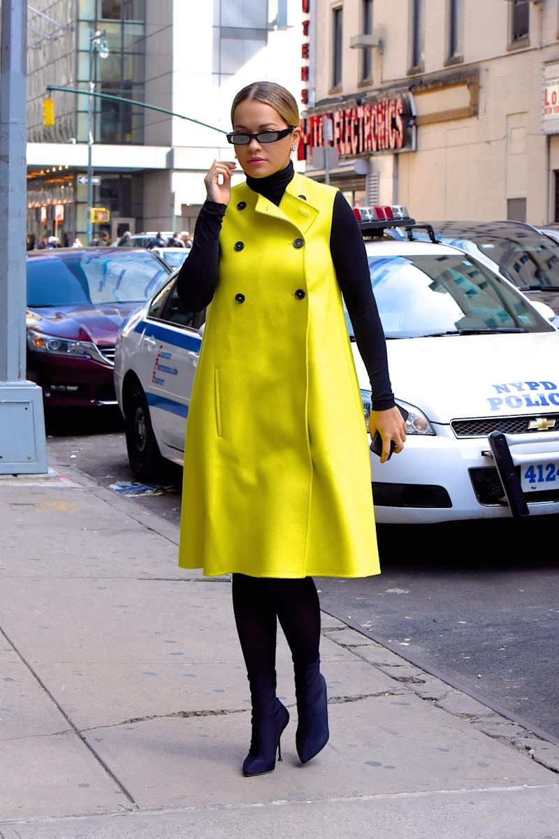 Rita Ora seen out and about in Manhattan on April 9, 2018 in New York City. Photo courtesy of Getty Images.