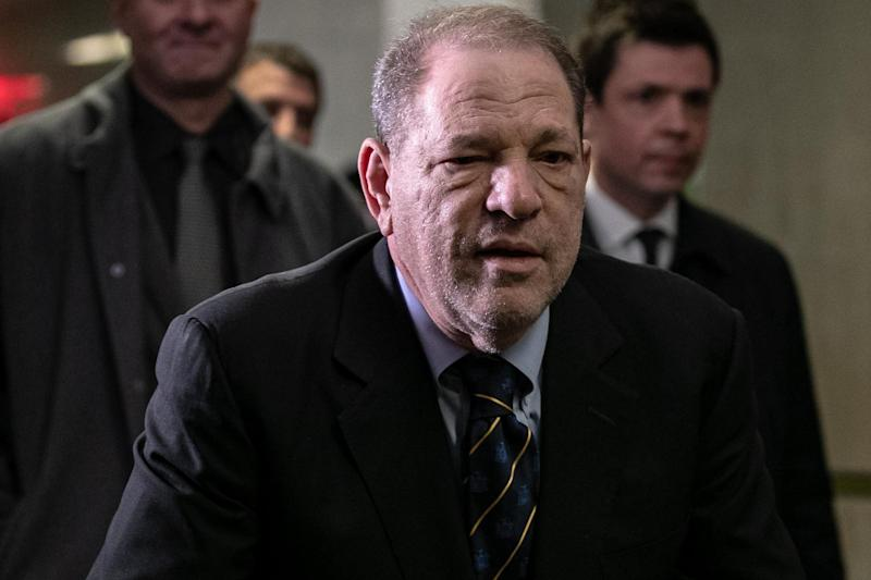 Harvey Weinstein arrives for the continuation of this trial on 24 January 2020 in New York City: Jeenah Moon/Getty Images