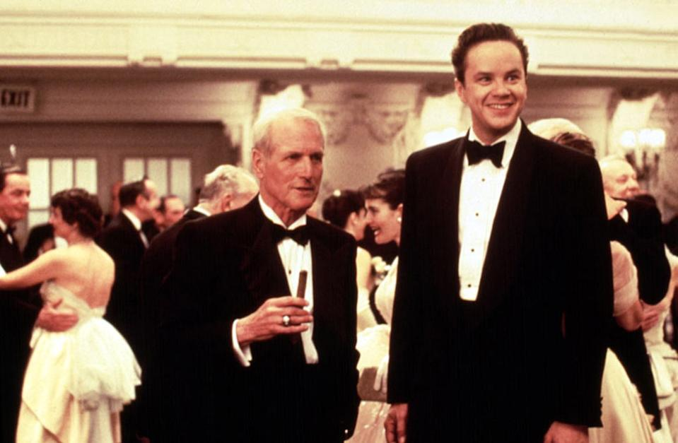 Paul Newman and Tim Robbins in 'The Hudsucker Proxy' (Photo: Warner Bros.)