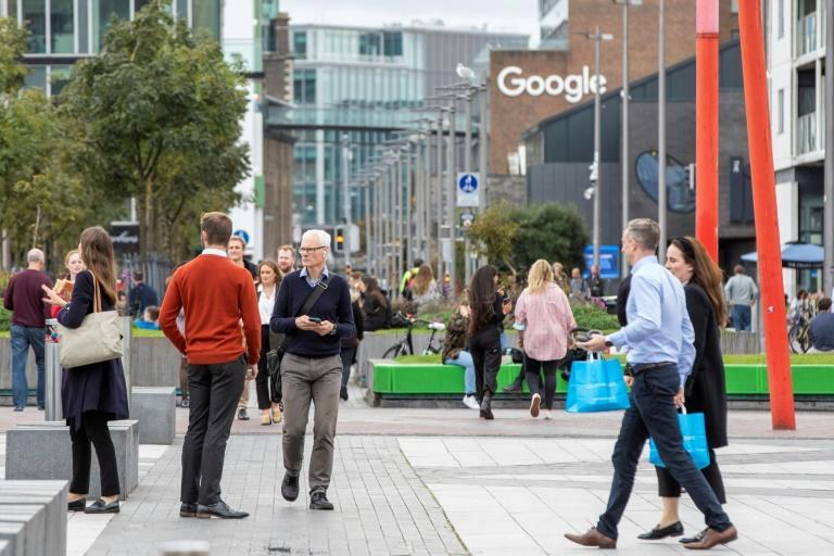 Ireland is home to several global multi-nationals, including Facebook, Apple and Google (AFP/PAUL FAITH)