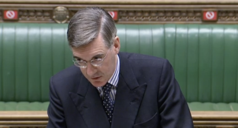 'We need to turn up to do our job.' Jacob Rees-Mogg in the House of Commons on Thursday. (Parliamentlive.tv)
