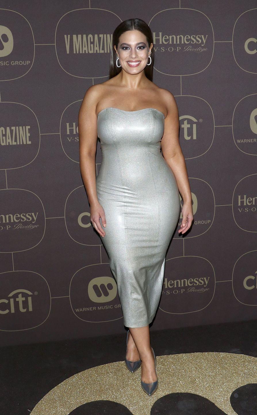 """<p>Attending Warner Music's Pre Grammy Party: In a <a href=""""https://www.cosmopolitan.com/uk/fashion/celebrity/a15891446/ashley-graham-looks-like-a-sexy-cyborg-in-this-skin-tight-silver-latex-dress/"""" rel=""""nofollow noopener"""" target=""""_blank"""" data-ylk=""""slk:skin-tight latex dress"""" class=""""link rapid-noclick-resp"""">skin-tight latex dress</a> that literally left us drooling at our desks, Ashley proved there is not a single look she can't pull off. </p>"""