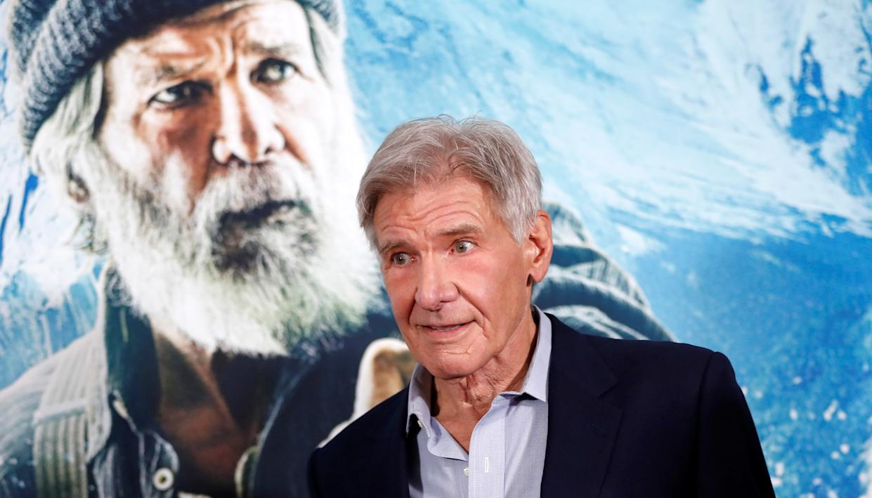 """Cast member Harrison ForHarrison Ford, currently starring in The Call of the Wild, addressed politics and the environment in a new interview with CBS. (Photo: REUTERS/Mario Anzuoni)d attends the premiere of """"The Call of the Wild"""" in Los Angeles, California, U.S., February 13, 2020. REUTERS/Mario Anzuoni"""