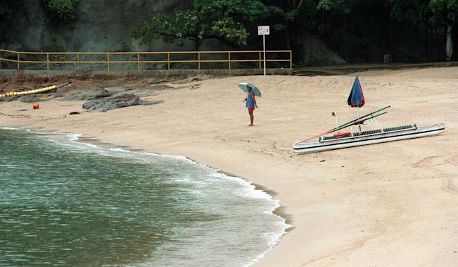 The bodies of three dogs were found in a cage on St Stephen's Beach in Stanley. Photo: Dickson Lee