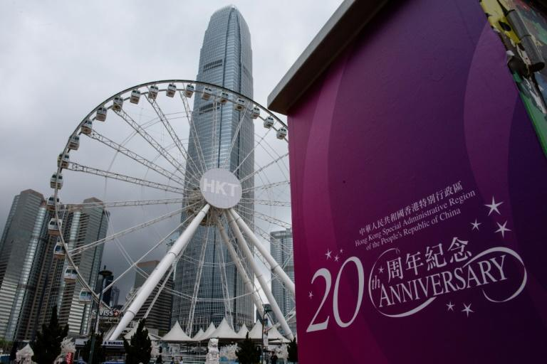 Some Hong Kong residents say the multi-million dollar celebrations for the 20th anniversary of the handover are a stunt