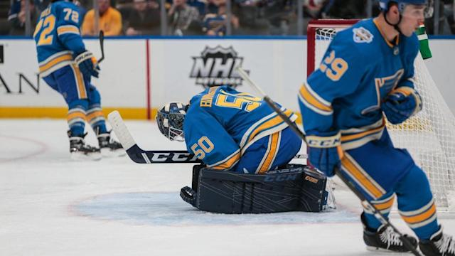 Blues fall to Ducks 4-1 to end point streak