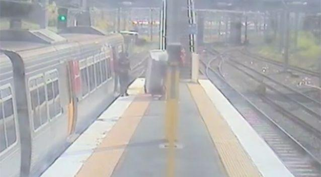 He is caught by rail security who fine him $252. Photo: Facebook / Queensland Rail