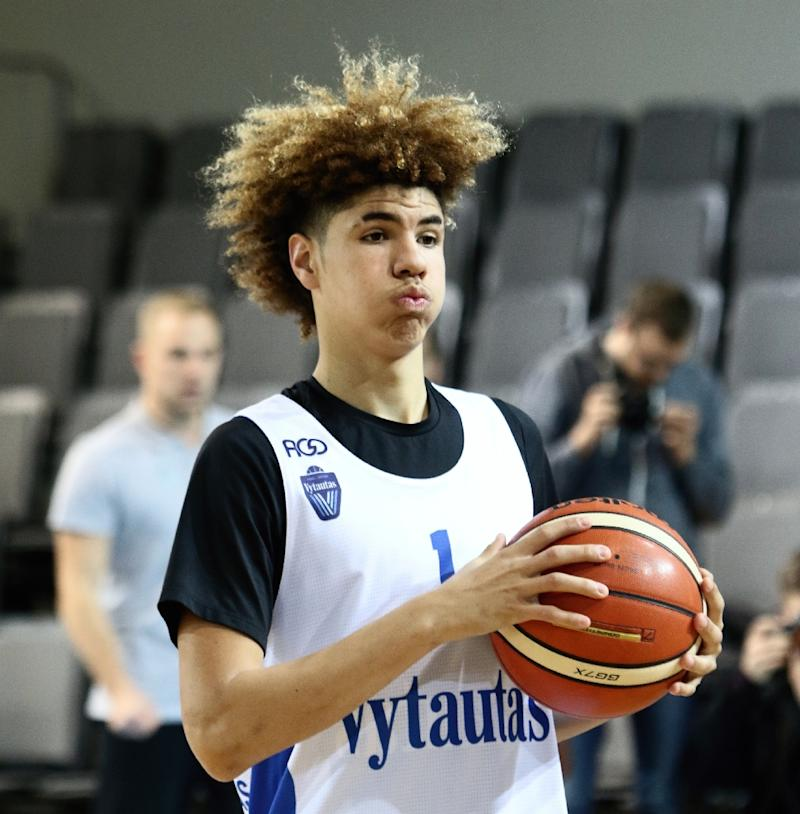 US basketball player LaMelo Ball, shown in a workout in Lithuania, will play for Australia's Illawarra Hawks next season with hopes to become the top pick in the 2020 NBA Draft