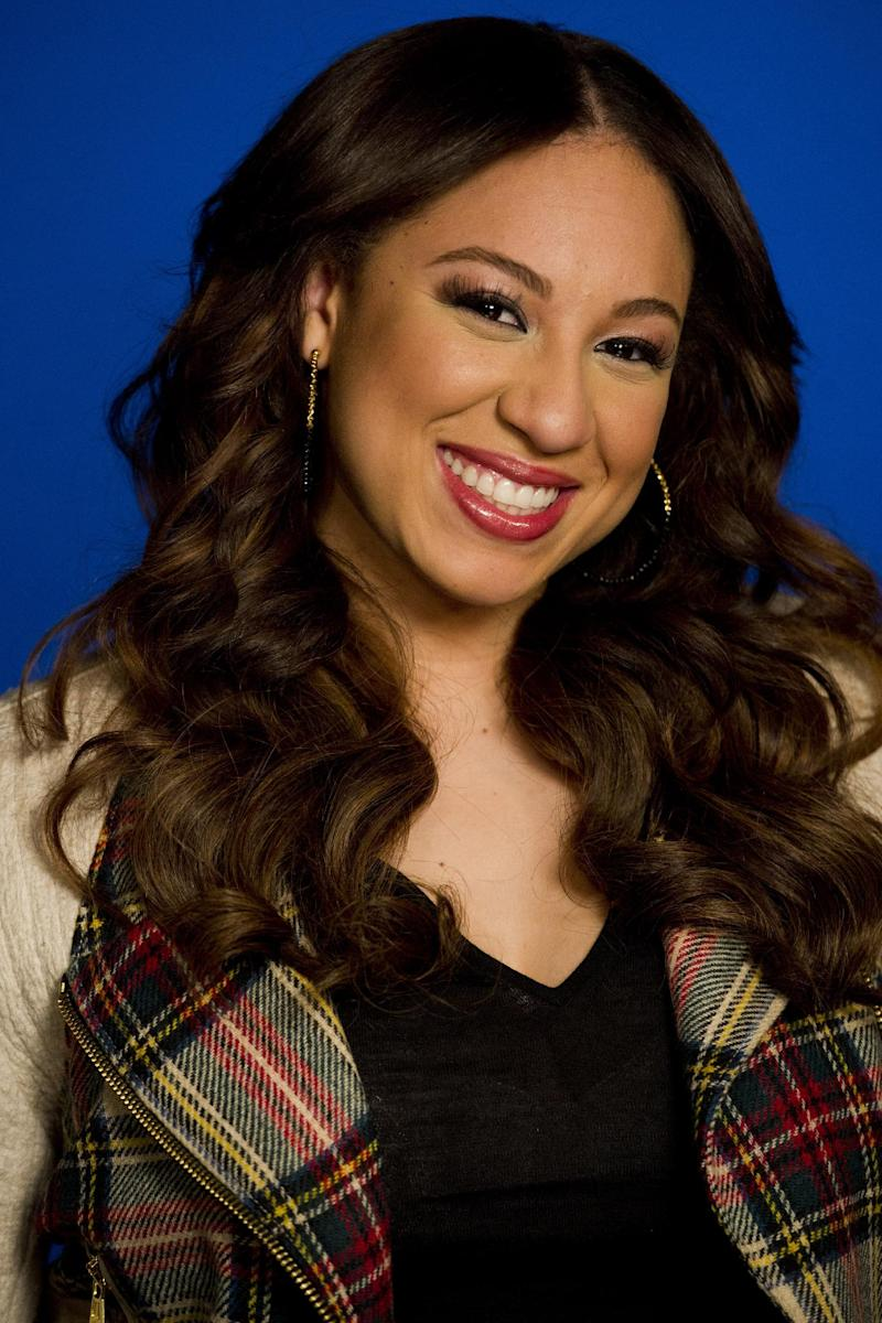 """Melanie Amaro, winner of the singing competition series """"The X Factor,"""" poses for a portrait in New York, Wednesday, Jan. 4, 2012. (AP Photo/Charles Sykes)"""