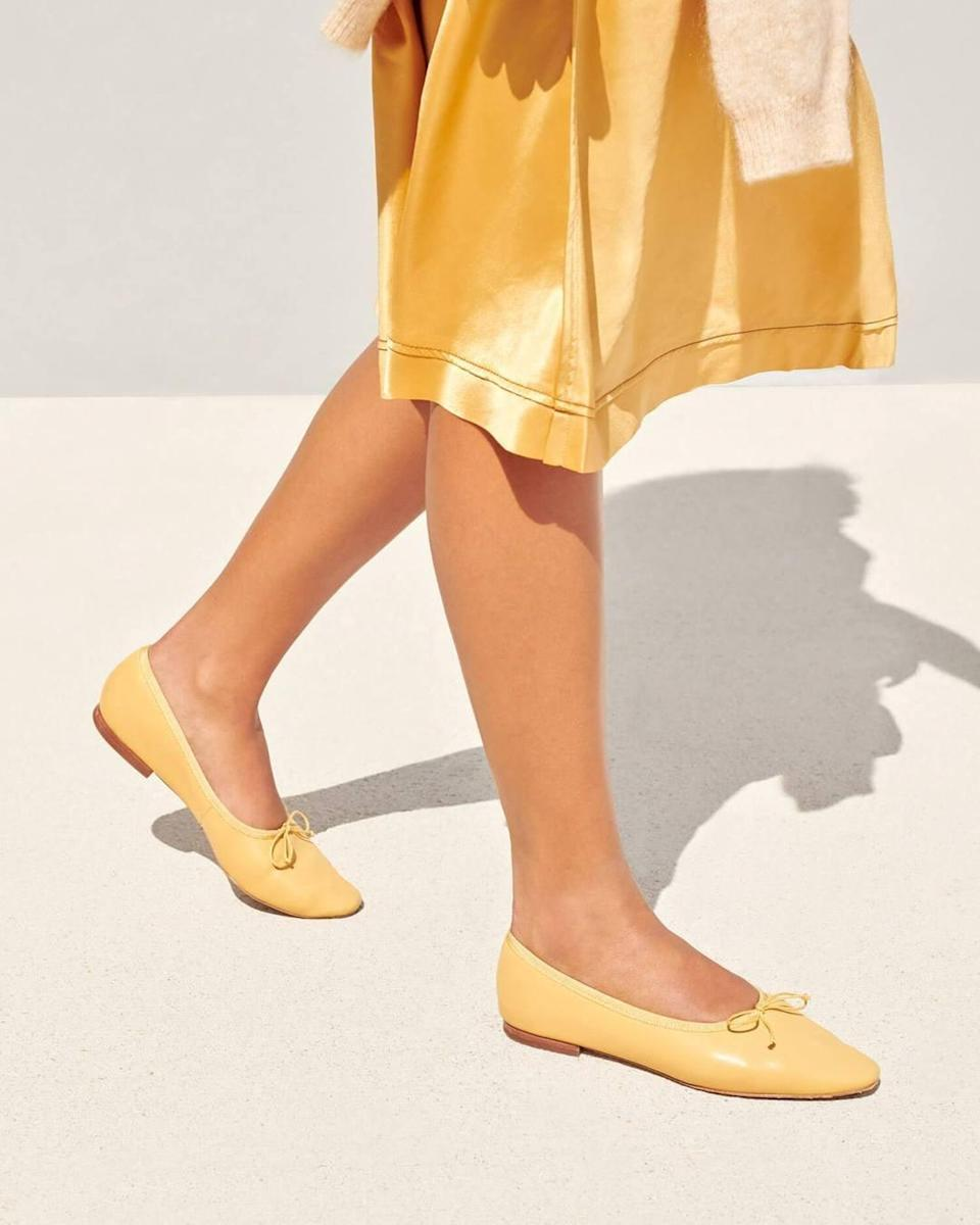 <p>If you love vibrant shades, then you can't go wrong with the <span>Loeffler Randall Georgie Ballet Flat Butter</span> ($250).</p>